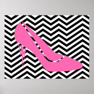 Poster rosado del estilete