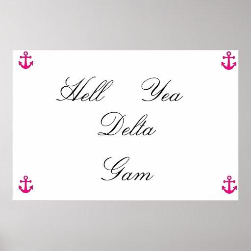 poster rosado del gam del delta del ancla