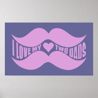 Poster rosado del personalizado de los bigotes