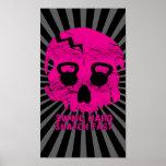 Poster rosado rápido de Kettlebell del arrebatamie