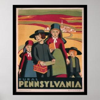 Poster rural 1938 de Pennsylvania WPA