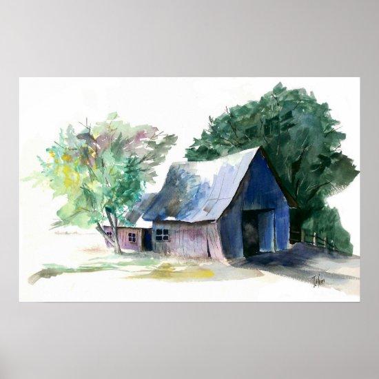 Poster - Rural Barn