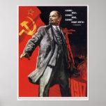 Poster ruso de la propaganda con Lenin