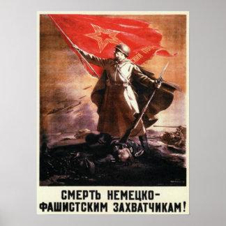 Poster ruso de la propaganda de WWII Póster