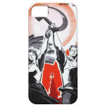 Poster ruso de la propaganda del vintage iPhone 5 fundas