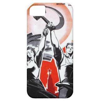 Poster ruso de la propaganda del vintage iPhone 5 funda