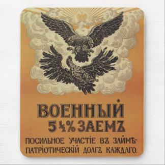 Poster ruso de la propaganda del vintage tapete de ratones