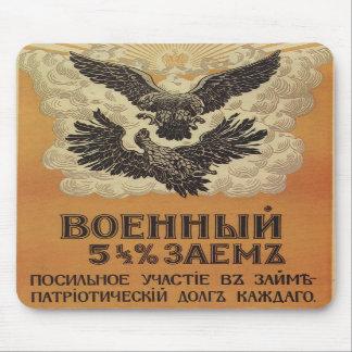 Poster ruso de la propaganda del vintage alfombrillas de raton