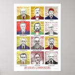 Poster ruso de los compositores