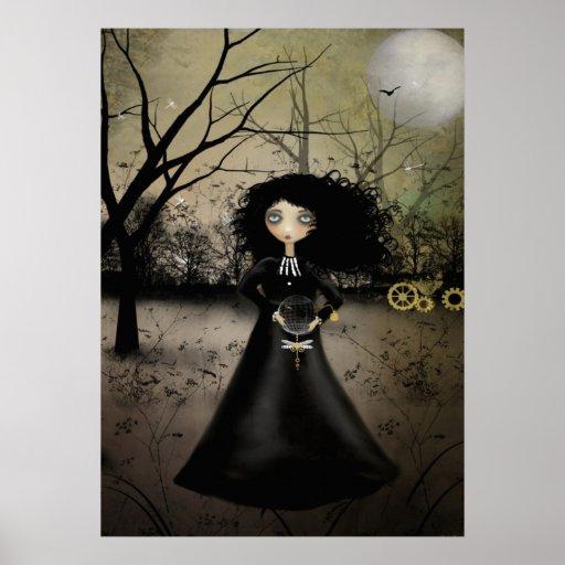 Poster rústico del arte de la alquimia de Steampun