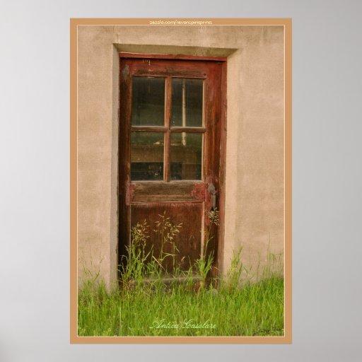 Poster rústico del estilo rural del edificio de la