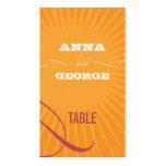 Poster rústico: Etiqueta rosada y anaranjada del a Tarjeta De Negocio