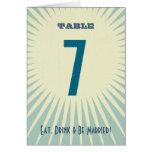 Poster rústico: Número de la tabla de la playa de  Tarjeta