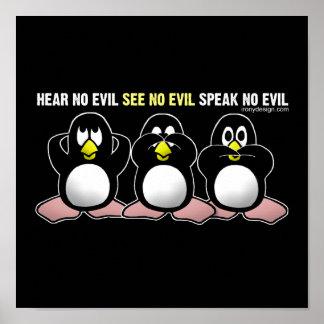 Poster sabio de 3 monos