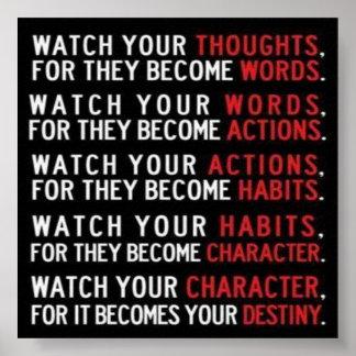 Poster sabio de las palabras