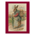 Poster sabio de Pascua del conejo