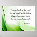Poster sabio del extracto de la cita de Buda