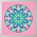 Poster sagrado de la mandala 11 de la geometría