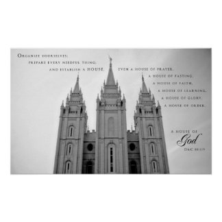Poster - Salt Lake City Utah LDS Temple