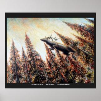 Poster - salto de ciervos