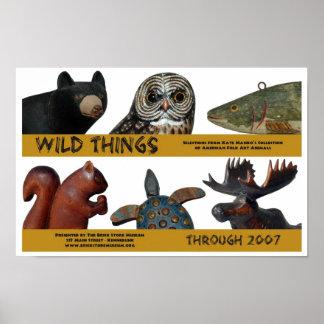Poster salvaje de la exposición de las cosas