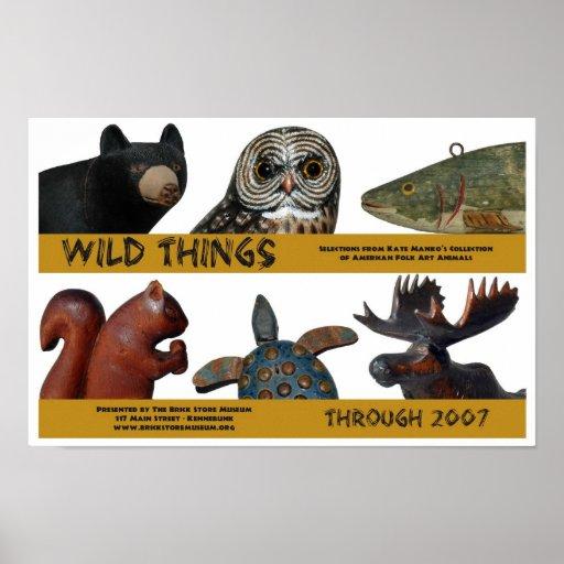 Poster salvaje de la exposición de las cosas póster