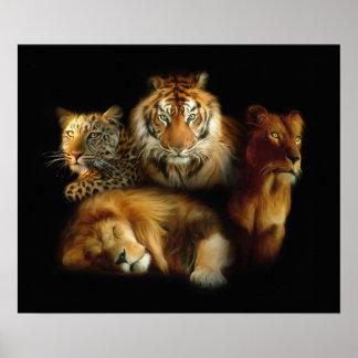 Poster salvaje de los depredadores