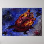 Poster sangriento del corazón