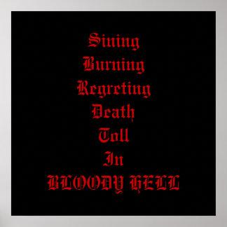 Poster sangriento del infierno