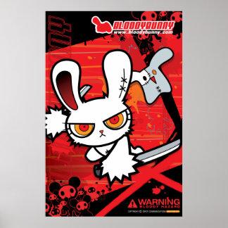 Poster sangriento I del conejito