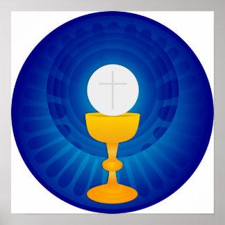 Poster santo de la eucaristía
