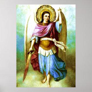 Poster santo de San Miguel del arcángel del ángel