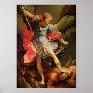 Poster santo de San Miguel del arcángel del ángel Póster