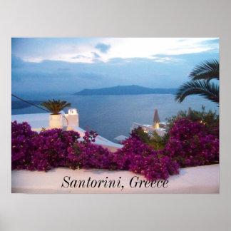 poster Santorini Grecia