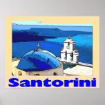 Poster Santorini Greese del viaje