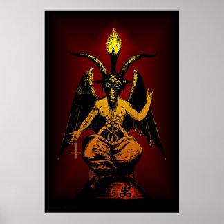 Poster satánico GRANDE del arte de la pared de la