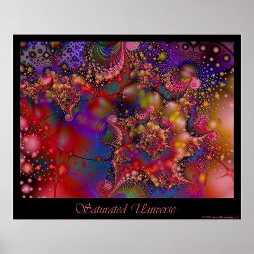 Poster saturado del universo