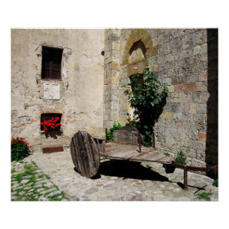 Poster - Secluded Courtyard in Monteriggioni