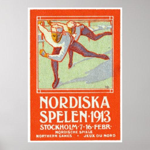 Poster septentrional de 1913 juegos