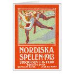 Poster septentrional de 1913 juegos felicitacion