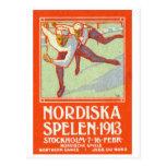 Poster septentrional de 1913 juegos postal