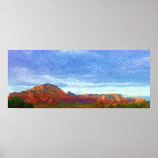 Poster, Seurat Syle, Red Rocks of Sedona