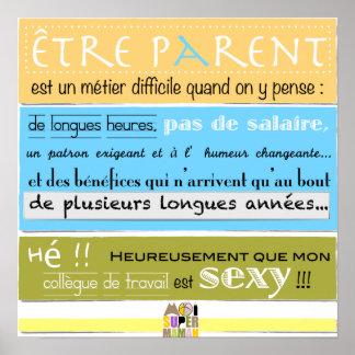 "Poster ""sexy Colleague"" - Me Super Mom"