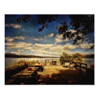 Poster-Shadows at the Hudson River Art Photo