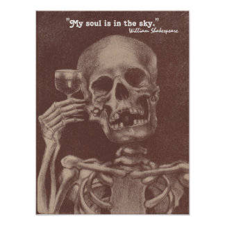 """Poster Shakespeare quote """"My soul is in the sky."""""""