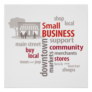 Poster, Shop Local, Buy Local, Small Business