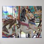 Poster silencioso de la fotografía de los caballos