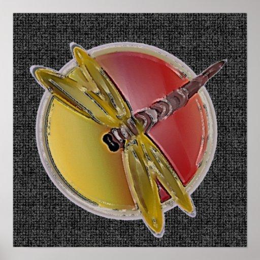 Poster simbólico de la libélula