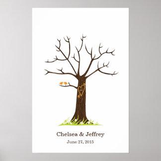 Poster (simple) del árbol de la huella dactilar
