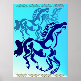 Poster simple del caballo